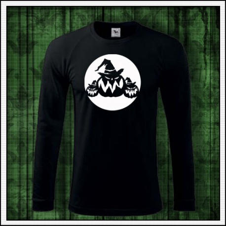 Pánske dlhorukávové svietiace tričko Tekvice