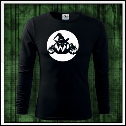 Pánske svietiace tričko s dlhým rukávom Tekvice na halloween