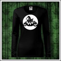 Dámske dlhorukávové fosforové tričko Tekvice