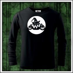 Detské 160g. dlhorukávové svietiace tričko Tekvice