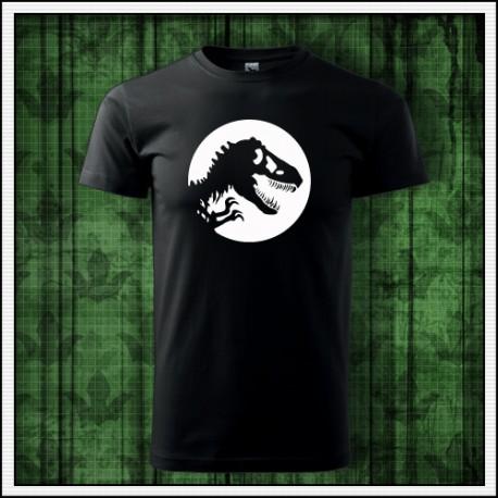 Unisex svietiace tričko Dinosaurus cez deň