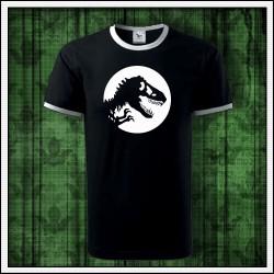 Unisex dvojfarebné svietiace tričko Dinosaurus