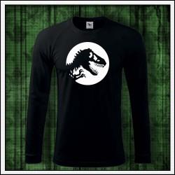 Pánske svietiace tričko s dlhým rukávom s potlačou Dinosaurus