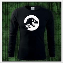 Pánske 160g. dlhorukávové svietiace tričko Dinosaurus