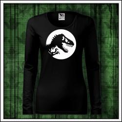 Dámske dlhorukávové svietiace tričko s obrázkom Dinosaura