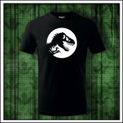Detské svietiace tričko Dinosaurus