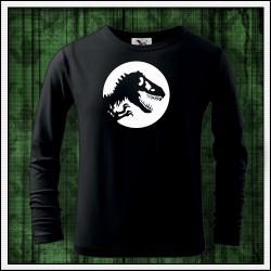 Detské dlhorukávové svietiace tričko Dinosaurus