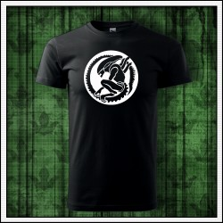 Unisex svietiace tričko Votrelec, mimozemšťan