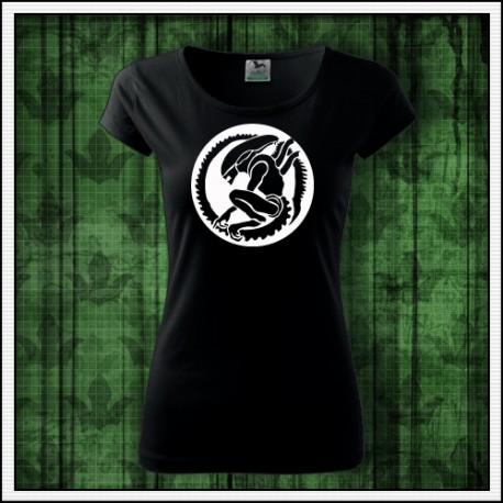 Dámske fosforové tričko Votrelec