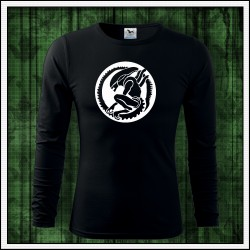 Pánske 160g. dlhorukávové svietiace tričko Votrelec