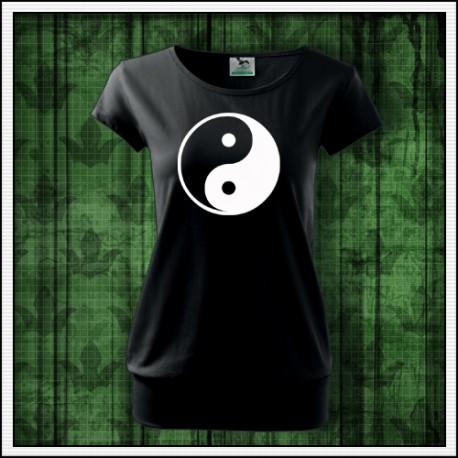 Dámske svietiace tričko s patentom Jin a Jang