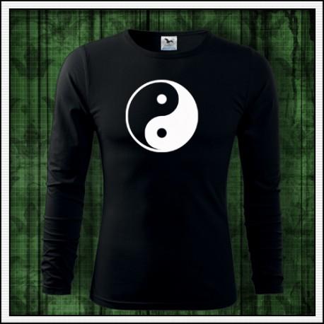 Pánske dlhorukávové svietiace tričko Jin a Jang
