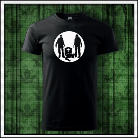 Unisex svietiace tričko Zombíci