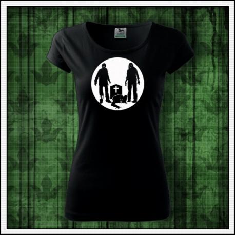 Dámske svietiace tričko Zombíci