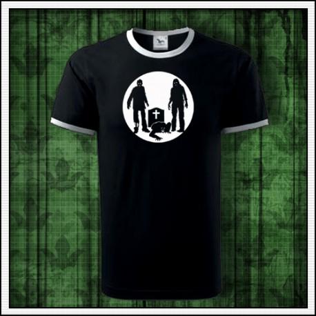 Unisex dvojfarebné svietiace tričko Zombíci