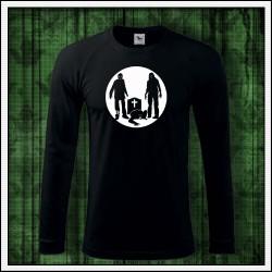 Pánske 180 g. dlhorukávové svietiace tričko Zombíci