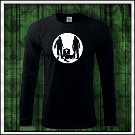 Pánske dlhorukávové svietiace tričko Zombie