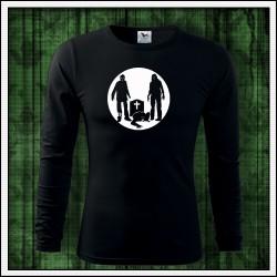 Pánske 160g. dlhorukávové svietiace tričko Zombíci