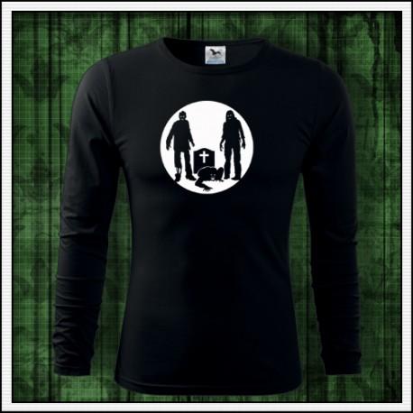 Pánske dlhorukávové fosforové tričko Zombíci