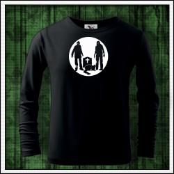 Detské 160g. dlhorukávové svietiace tričko Zombíci