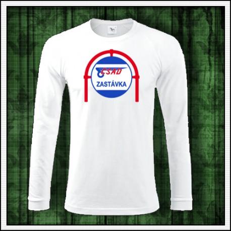 Pánske dlhorukávové retro tričko ČSAD zastávka