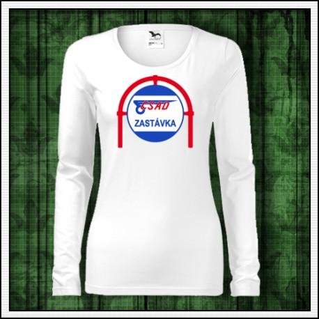 Dámske dlhorukávové tričko retro ČSAD zastávka