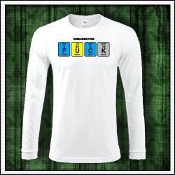 Vtipné pánske 180g. dlhorukávové tričká Fuck