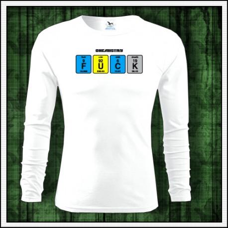Vtipné pánske dlhorukávové tričko Fuck