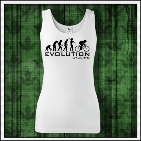 Vtipné dámske tielko Evolution Cycling