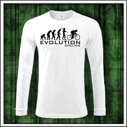 Vtipné pánske 180 g. dlhorukávové tričká Evolution Cycling