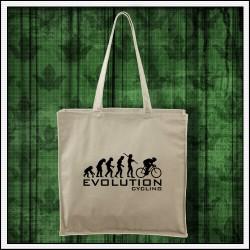 Vtipná taška Evolution Cycling, evolucia cyklistiky