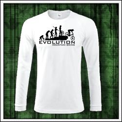 Vtipné pánske dlhorukávové tričko Evolution Mountain Biking