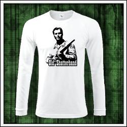 Pánske dlhorukávové biele tričko Old Shatterhand