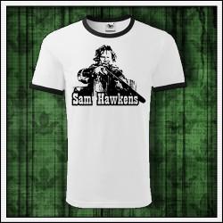Unisex dvojfarebné tričká Sam Hawkens