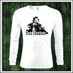 Pánske dlhorukávové biele tričko Sam Hawkens