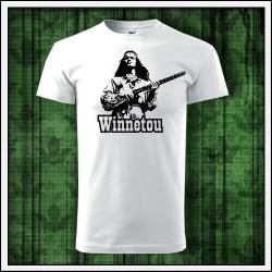 Unisex retro tričko Winnetou s puškou
