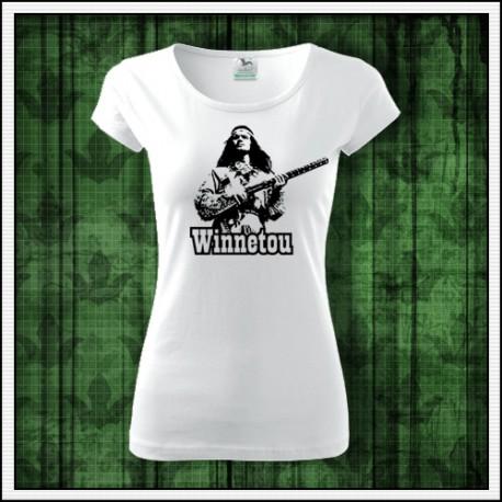 Damske retro tricko Winnetou s puskou