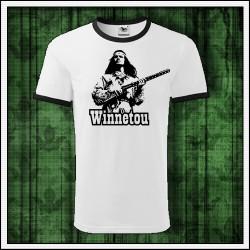 Unisex dvojfarebné tričká Winnetou s puškou