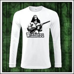 Pánske 180 g. dlhorukávové tričká Winnetou s puškou