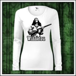 Dámske dlhorukávové tričká Winnetou s puškou