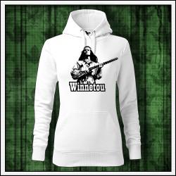 Dámske jednofarebné mikiny Winnetou s puškou