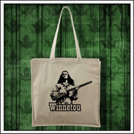 retro taška Winnetou s puškou