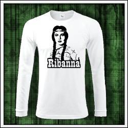Pánske 180 g. dlhorukávové tričká Ribanna