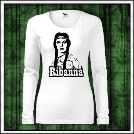 Dámske dlhorukávové retro tričko Ribanna