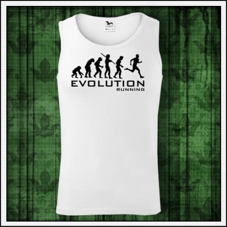 Vtipné pánske tielko Evolution Running