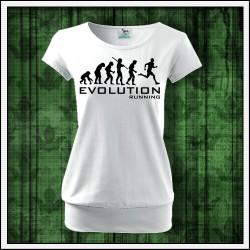 Vtipné dámske tričká s patentom Evolution Running