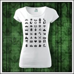 Vtipné dámske tričká Icon Speak