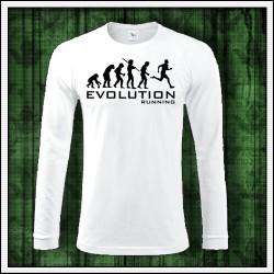Vtipné pánske 180 g. dlhorukávové tričká Evolution Running