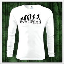 Vtipné pánske 160g. dlhorukávové tričká Evolution Running