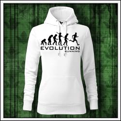 Vtipné dámske jednofarebné mikiny Evolution Running